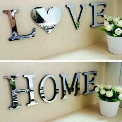 Wall Wall Sticker 4 Letters Tiles Acrylic Decor Furniture Home Love Mirror • 4.84£