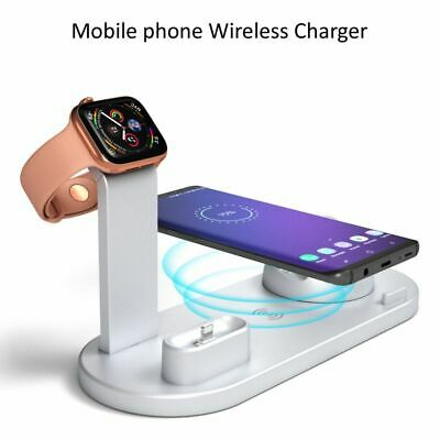 AU25.10 • Buy 4 IN 1 Smart Charging Stand Desktop Wireless Charger Dock Fit For Air Pods IPad