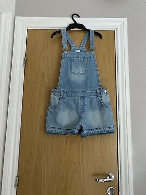 Girls Dungaree Shorts Age 12-13 • 1.80£