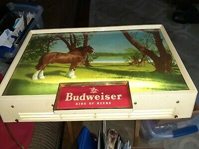 $ CDN423.22 • Buy Vintage BUDWEISER Electric Lighted Sign W/CLYDESDALE HORSE, King Of Beers 14x20