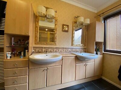 £170 • Buy Complete White Roca Bathroom Suite With Fitted Bathroom Cabinets/storage .