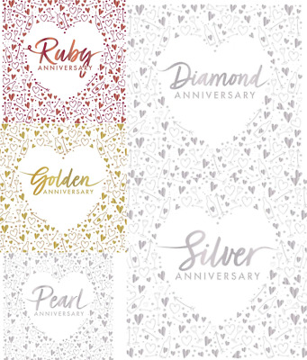 £3.49 • Buy Wedding Anniversary Napkins Silver Pearl Ruby Golden Diamond 16 3ply Foil Stamp