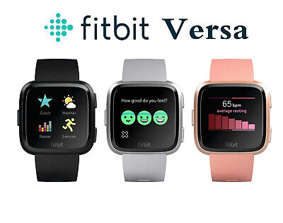 $ CDN100.88 • Buy Fitbit Versa Smartwatch Fitness Activity Tracker With L S Band Black Pink Silver