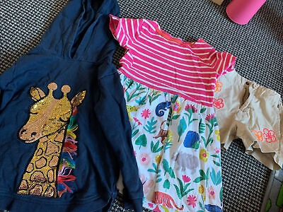 Girls Clothes Bundle Age 3-4 Years (3 Items( Mini Boden, Bluezoo, Landsend) • 2.20£