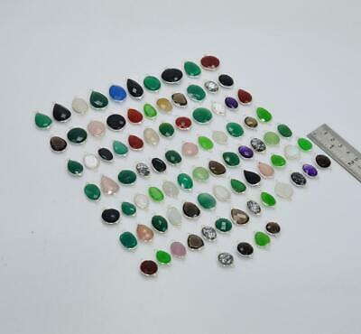 $ CDN182.68 • Buy Wholesale 88pc 925 Solid Sterling Silver Smoky Quartz Mix Connector Lot O S002