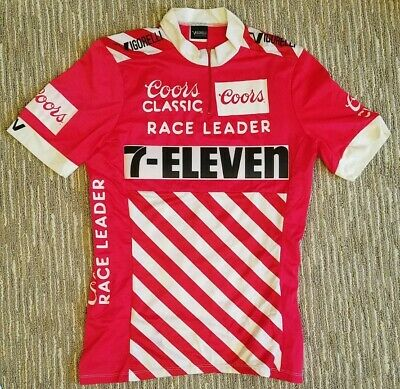 AU1594.08 • Buy DAVIS PHINNEY - 1988 Coors Classic 7-Eleven Cycling Team Race Leader Jersey