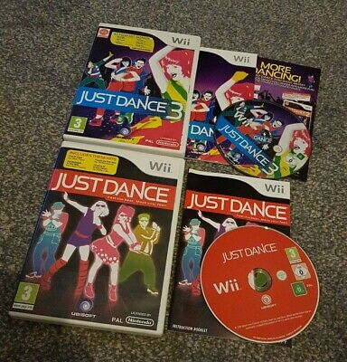 Nintendo Wii Just Dance 1 & 3 Games - Tested & Complete. Very Good Condition  • 12.99£