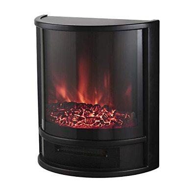 Fireplace Electric Heater Metal Log Burning Flame Effect Living Room Stove 1800W • 150.34£