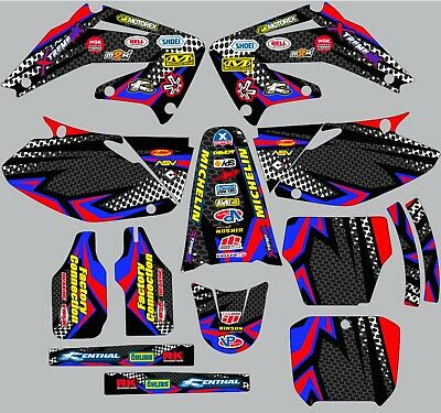 $95.99 • Buy Graphic Kit For 2002-2004 Honda CRF450 CRF 450 Decals Logo Sticker
