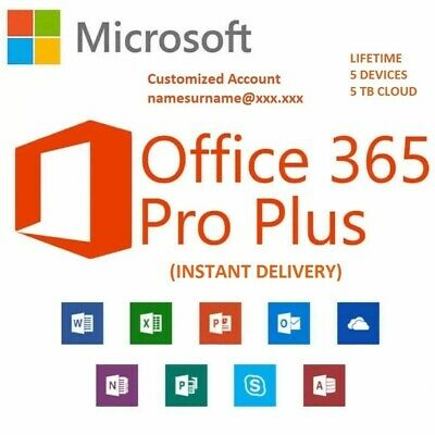 AU6.52 • Buy Office 365 | 5 PC/Mac And 5 Devices | 1TB Storage | NEW