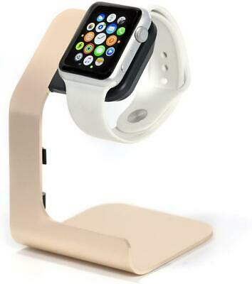 $ CDN16.24 • Buy APPLE WATCH CHARGING STAND TRANESCA GOLD Holder Dock For Series 6/5/4/3/2/1/Se