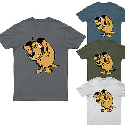 £12.99 • Buy Dog Smile Funny Cartoon Mumbly Wacky Races Gifts For Adults Mens T-Shirt S-5XL