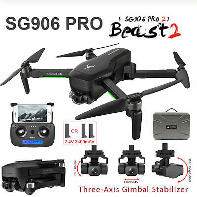AU371.17 • Buy SG906 Pro 2 1.2KM FPV 3-axis Gimbal 4K Camera Wifi GPS RC Drone Quadcopter U