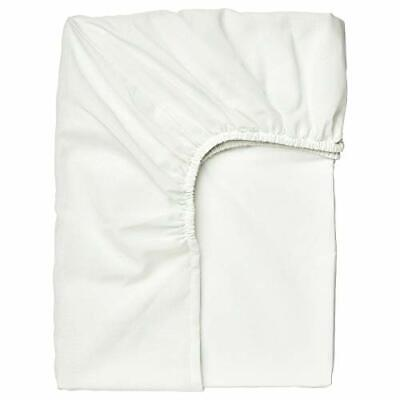 Ikea TAGGVALLMO Single Fitted Sheet 90x190cm [White] • 8£