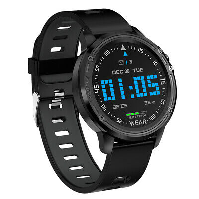 AU44.05 • Buy L8 Smart Watch Mens Fitness Tracker Heart Rate Monitor ECG PPG IP68 Black