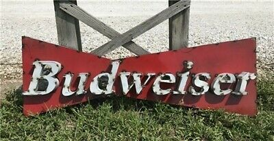 $ CDN215.24 • Buy Budweiser Bowtie Metal Sign, Budweiser Wall Art, Metal Beer Sign, Man Cave Sign