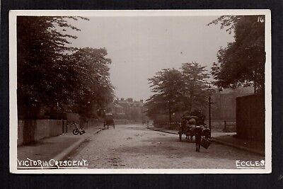 £18 • Buy Eccles, Victoria Crescent - Near Salford - Real Photographic Postcard