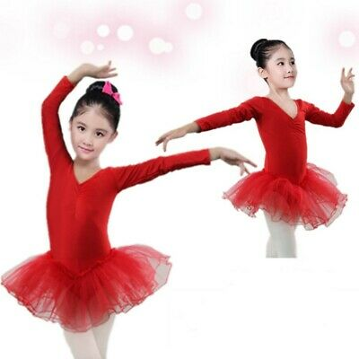 Kids Girls Ballet Leotard Tutu Dress Ballerina Dancewear Gymnastic Skirt Costume • 6.29£