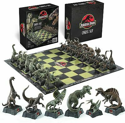 £44.99 • Buy Jurassic Park Chess Set 32pc Dinosaur Board, The Noble Collection Gift Collector