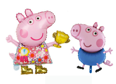 £2.99 • Buy Large Peppa Pig Balloon And George Birthday Party Foil Balloons UK