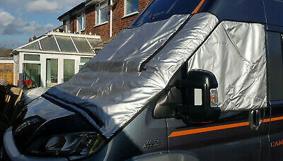 £99.99 • Buy Motorhome Thermal Screen Covers For Fiat Ducato, Citroen Peugeot Extra Long