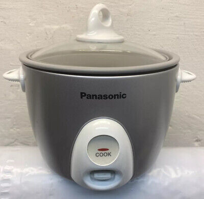 £13.81 • Buy Panasonic SR-G06FG 3 Cup Silver Automatic Rice Cooker Glass Lid