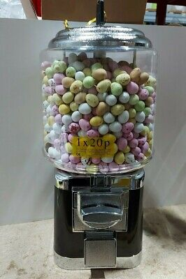 £75.99 • Buy Black 20p Coin Operated Vending Machine Filled With Mini Eggs **Easter Special *