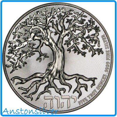 AU368.59 • Buy 2021 5 Oz High Relief Tree Of Life - .9999 Silver Encapsulated
