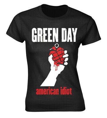 £16.99 • Buy Green Day 'American Idiot Heart' (Black) Womens Fitted T-Shirt - NEW & OFFICIAL!