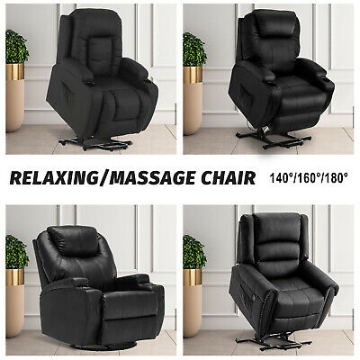 AU529.90 • Buy Electric Massage Chair 8 Point Heated Lift Chair Recliner Swivel PU Leather Sofa