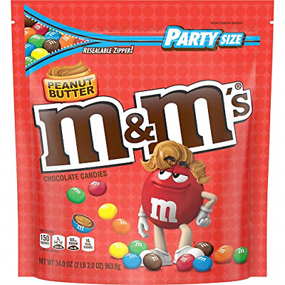 $27.78 • Buy M&M'S Peanut Butter Chocolate Candy Party Size 34-Ounce Bag
