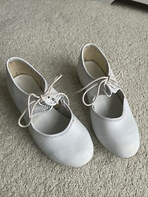 £5.99 • Buy White Tap Dancing Shoes Kids Size 10