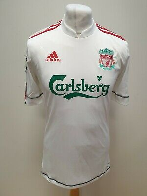 S937 MENS ADIDAS LIVERPOOL WHITE 5xCHAMPIONS LEAGUE WINNERS FOOTBALL SHIRT UK S • 39.99£
