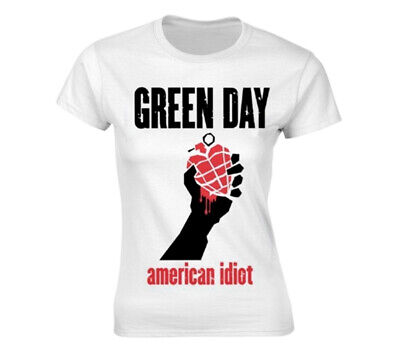 £16.99 • Buy Green Day 'American Idiot Heart' (White) Womens Fitted T-Shirt - NEW & OFFICIAL!