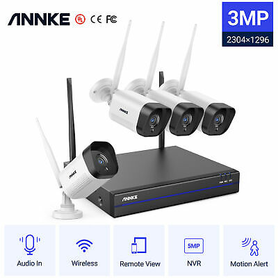 AU229.69 • Buy ANNKE 8CH 5MP NVR 3MP Audio Wireless WiFi Security Camera System AI Detection IR