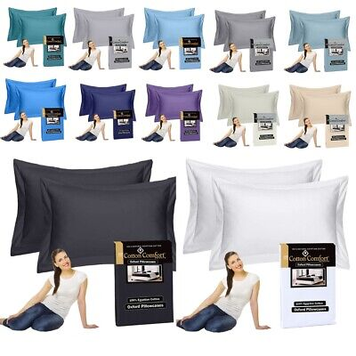 $ CDN10.21 • Buy 400 Thread Count 100% Egyptian Cotton House Wife Pillow Cases Pack Of 2