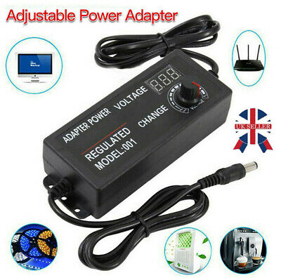£11.45 • Buy AC DC Electrical Power Supply Adapter Charger Variable Voltage 3V-24V Adjustable