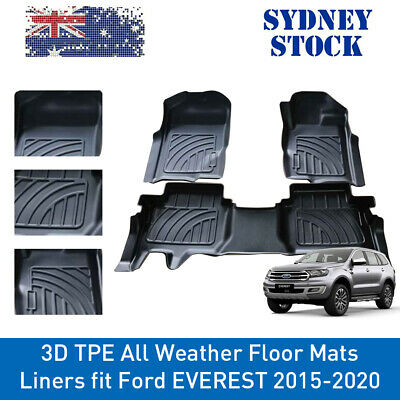 AU150.90 • Buy Prime Quality 3D TPE All Weather Floor Mats Liners Fit Ford EVEREST 2015-2021