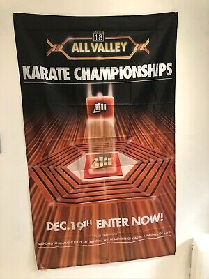 $27.95 • Buy THE KARATE KID Tournament All Valley Movie Poster Flag Banner Wall Tapestry