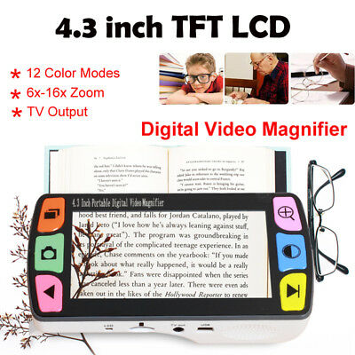"""£79.13 • Buy Eyoyo 4.3"""" Video Magnifier Electronic Portable 6x-16x Low Vision Reading Aid USB"""