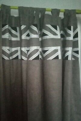 £110 • Buy Union Jack Curtains - Pleats Or Tabs - Lovely Quality - Lined - Made To Measure
