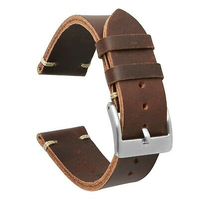 £12.99 • Buy VintageTime Watch Straps - Vintage New Style Calf Leather Replacement Watch Band