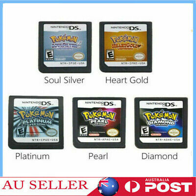 AU23.98 • Buy AU For 3DS NDSI NDS NDSL Pokemon HeartGold SoulSilver Game Card US Version NEW