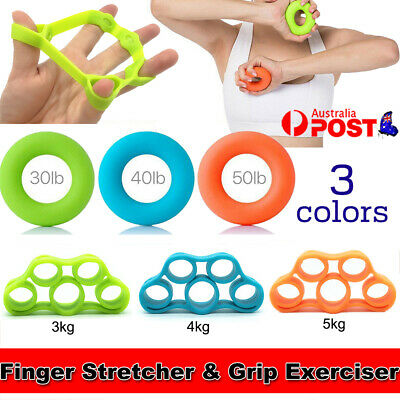 AU12.99 • Buy Set Of 3/6 Finger Stretcher Hand Resistance Band Hand Grip Strength Exercise