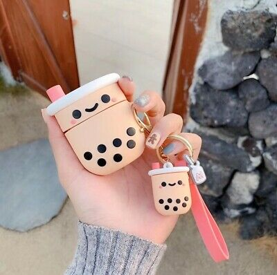 AU16.99 • Buy Cute Boba Milk Tea Silicone Ornaments Earphone Case For Apple Airpods 1 /2/ Pro