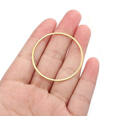 £2.99 • Buy 40Pcs Raw Brass Open Round Circle Rings Charms Connectors DIY Jewellery Findings