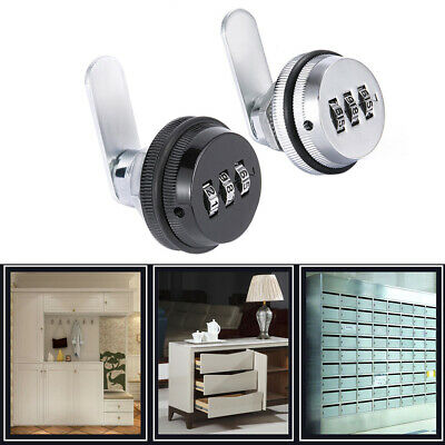 Zinc Alloy Mail Box Cam Lock Combination Security Hardware Door Drawer 3 Digit • 6.59£