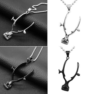$9.05 • Buy Punk Rock Barber Clippers Pendant Necklace For Women Men Costume Jewellery