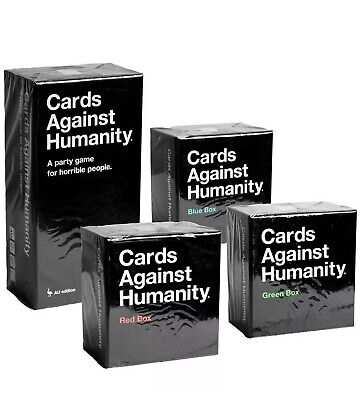 AU99 • Buy Cards Against Humanity Set Main Box, +  Blue, Red, Green Boxes