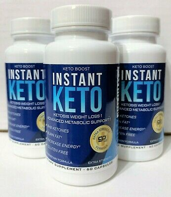 $14.99 • Buy 3 Keto Boost Instant Ketosis Weight Loss Go BHB Ketones 180 Caps 3 Month Supply